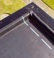 Metal edge trim over UPVC fascia